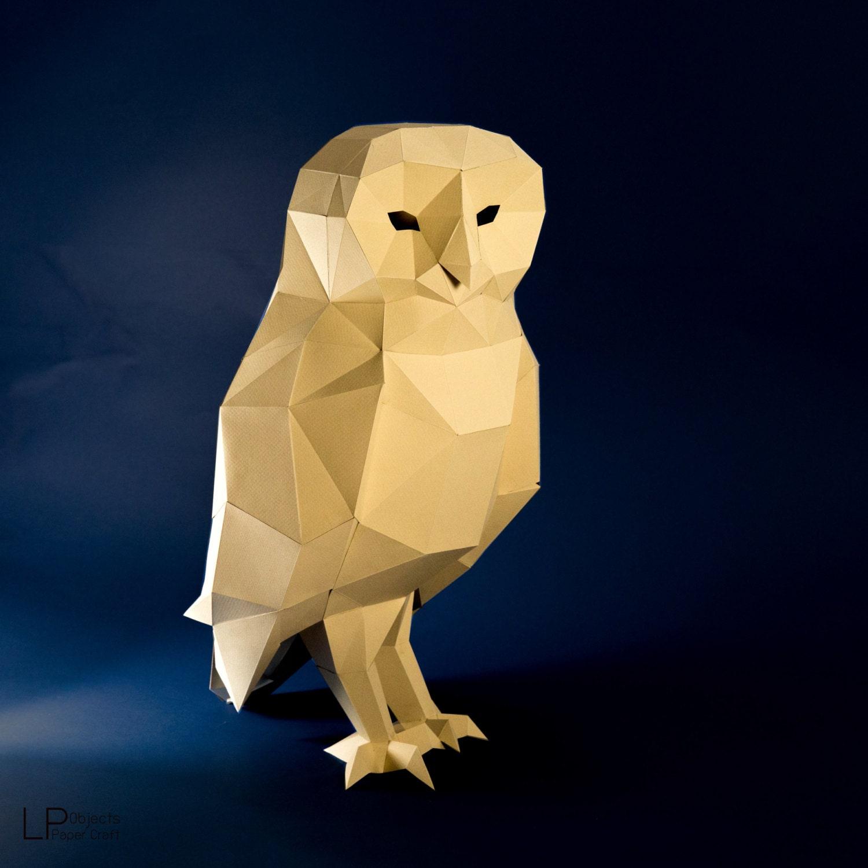 Owl model owl low poly owl sculpture owl paper papercraft owl model owl low poly owl sculpture owl paper papercraft kit diy 3d paper crafts animals jeuxipadfo Choice Image