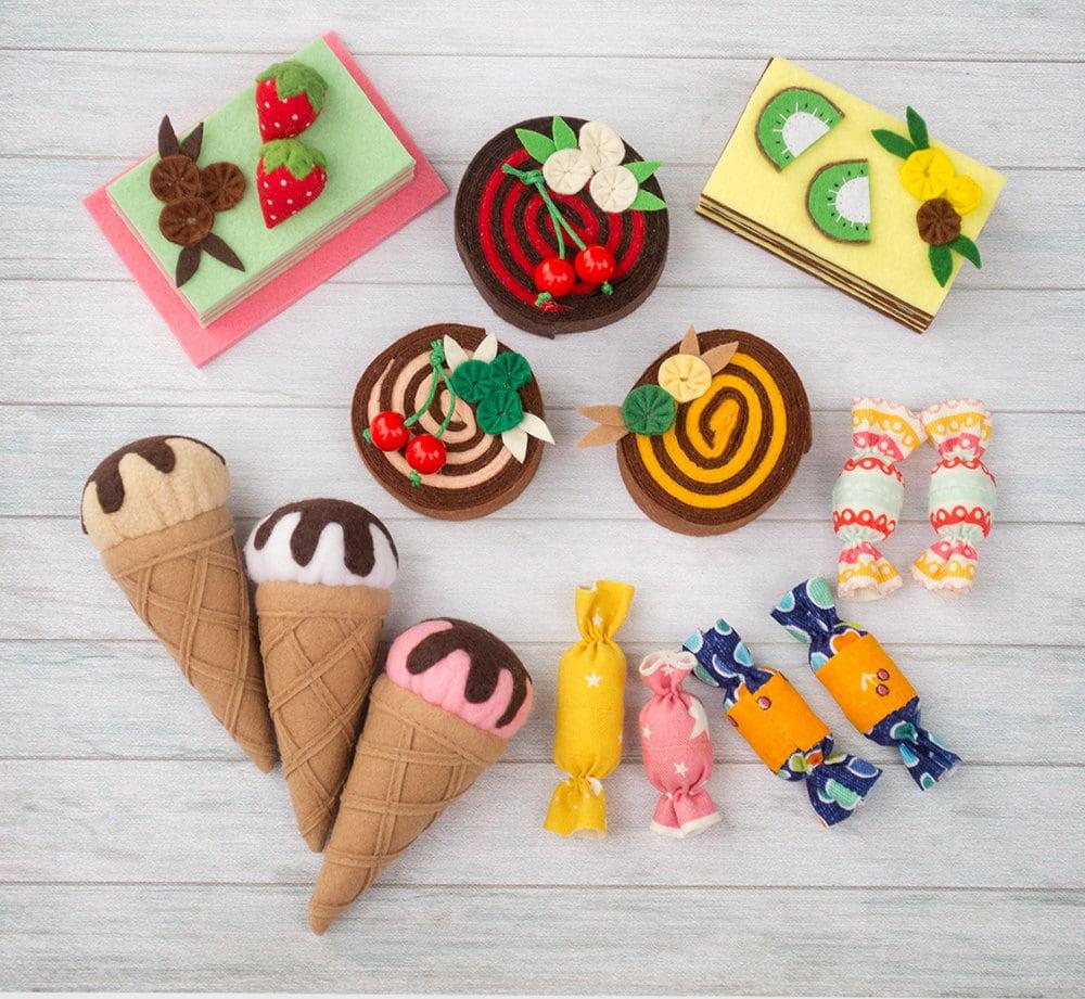 Felt Food Toys R Us : Felt food set doll pretend play sweet toy