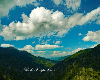 Mountain Valley, wall art, landscape photography, clouds