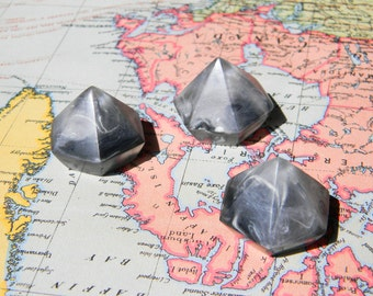 Grey Storm / Resin Hex Magnets x 3