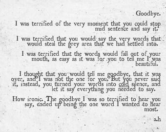 The goodbye I never got