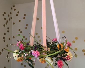 Floral Wreath Mobile / Floral Mobile Nursery - Featured on ProjectNursery.com