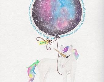 Galaxy Baby Unicorn