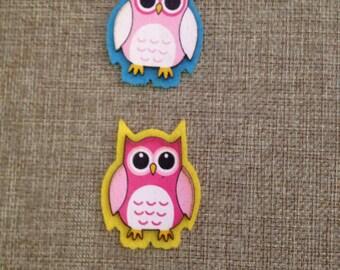 6 wooden wooden owls