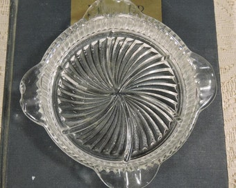 Vintage Glass Ash Tray Small
