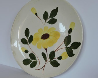 Vintage Decorative Plate Black Eyed Susan Flower Hand Painted
