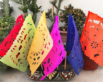 Mexican Papel Picado Flags - 10 flags