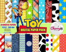 Toy Story Digital Papers, Free Clip Art, Digital Scrapbooking, Christening, Holy Cross Baptismal, scrapbook papers