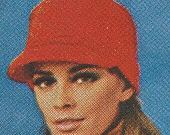 Vintage 1960's Crochet Cap