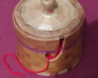 Knitting Bowl with lid, keeps your wool clean and tidy in one place whilst knitting