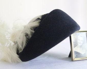 1950s Navy Ladies Vintage Hat