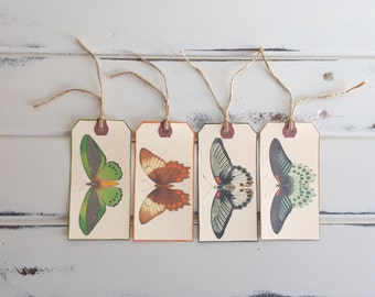 Shipping Tags, Gift tags, Tags, Butterflies