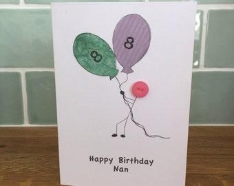 Happy Birthday Card 'Big Balloon'