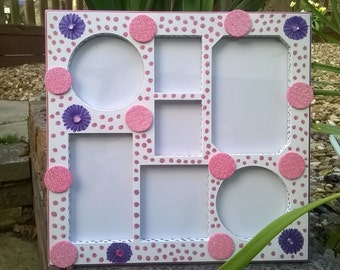 Flowers and Dots Photo Frame