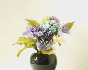 Hydrangeas and Thistles paper flowers for wedding, gifts and home