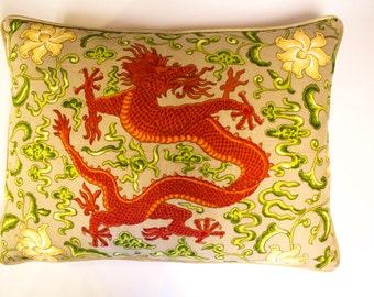 Scalamandre Chi'en Dragon Pillows