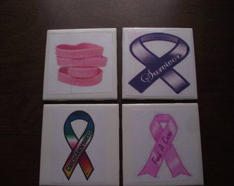 Handmade Ceramic Tile Coaster Sets