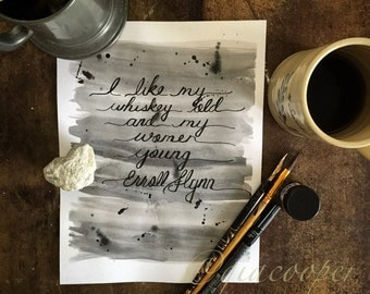 Handmade Ink Washed Typography