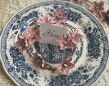 Tablescape paper decoration, Paper flowers tables cape decor, Table decoration, Wedding table decoration, Romantic wedding paper decoration