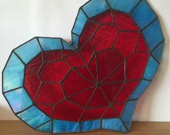 Zelda stained glass heart container