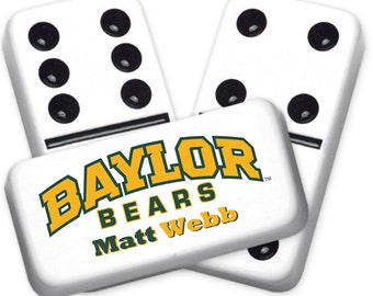 Baylor Bears Custom Personalized Licensed Dominoes Set