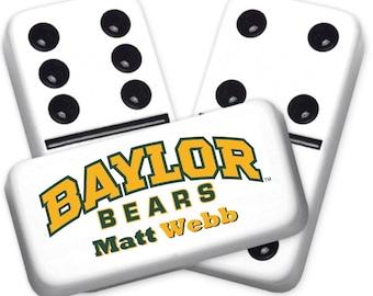 Baylor Bears Custom Personalized Licensed Dominoes Set