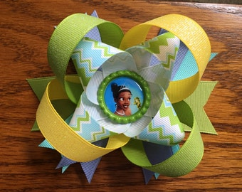 Princess and the frog hair bow