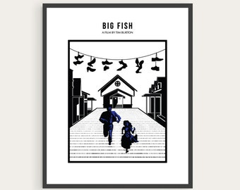 Big Fish, Tim Burton, Minimal Movie Poster.