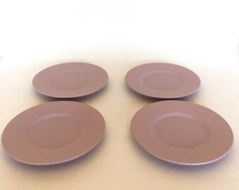 Purple Lilac Pfaltzgraff Small Dessert, Appetizer, or Bread and Butter Plates- Set of 4