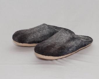 Handmade felted slippers