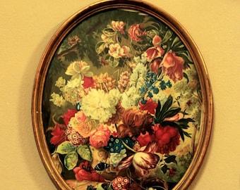 Vintage frame, floral decoration