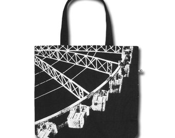 Ferris Wheel Funtote canvas tote bag