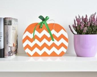 Halloween wooden pumpkin - fall decor - home decor - housewarming gift - thanksgiving decor - wood handmade - new home gift