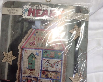 Dimensions 1995 Home Tweet Home NEW 62059 From The Heart Applique Wall Hanging