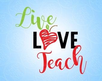Download Live love teach   Etsy