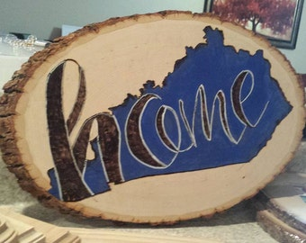 Kentucky Home Wood Burning Tree Roung