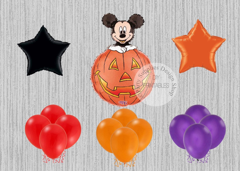 HALLOWEEN Mickey Mouse Birthday Balloons, Mickey Halloween Party ...