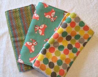 Flannel and Terry Cloth Burp Cloths