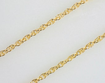 14k Gold Filled 1.3mm Rope Chain, Made in America