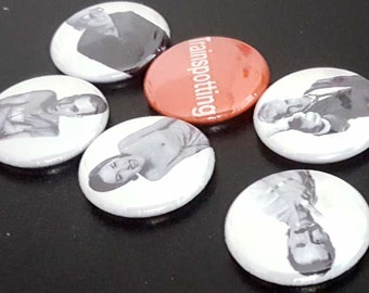 "6 Trainspotting 1"" Buttons/Badges/Pinbacks Irvine Welsh Guy Movies Classic Cult Movie Cinema UK Crime"