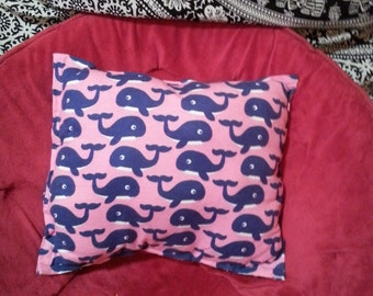 Pink and Blue Whale Pillow