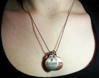 Dream Believe Wish Charm Necklace