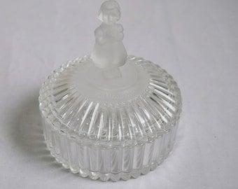 Vintage Avon leaded crystal jewelry box