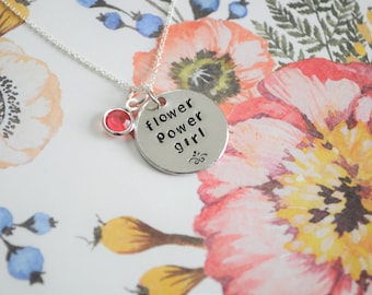 FLOWER POWER GIRL sterling silver necklace