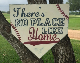 Baseball Sign Theres no place like home by ...