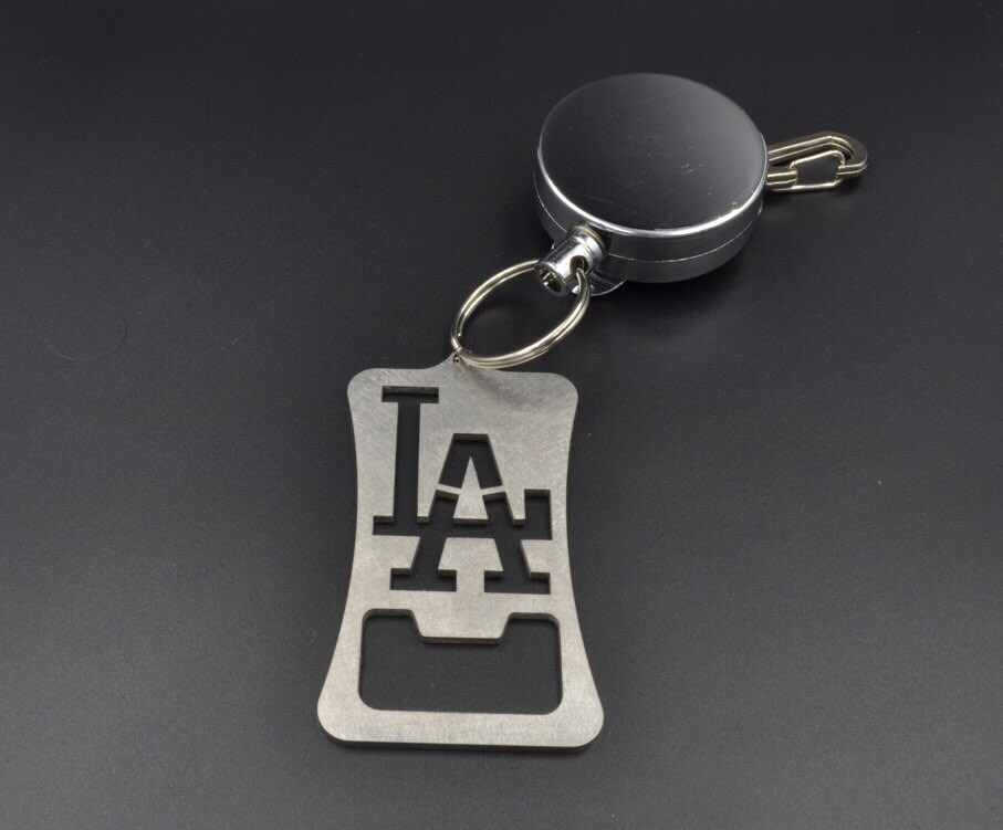 dodgers retractable bottle opener los angeles dodgers gifts. Black Bedroom Furniture Sets. Home Design Ideas