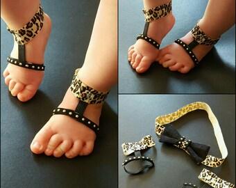 barefoot sandal and headband set
