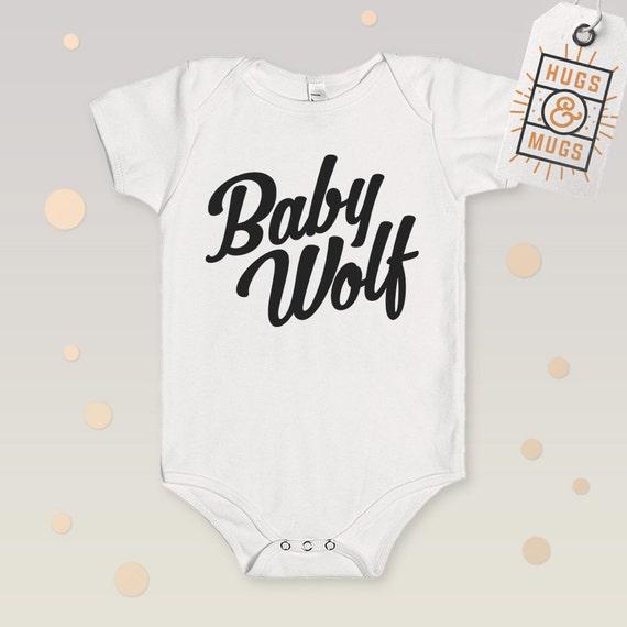 Items similar to Baby Wolf Bodysuit Baby Girl Baby boy