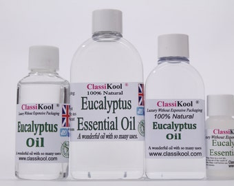 Classikool Pure Eucalyptus Oil - Essential Oil for Aromatherapy & Massage  (Free UK Mainland Postage)