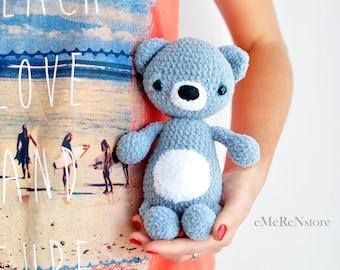 Amigurumi Pattern-Teddy Bear Crochet Tutorial - Instant download- Printable- In English-Crochet Amigurumi Pattern - Bear- cute bear pattern